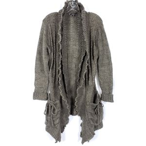 Sioni Ruffle Knit Cardigan Sweater